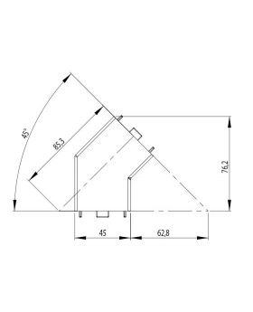HOEKVERBINDER 45° | 45x45 (set) - GROEF 10