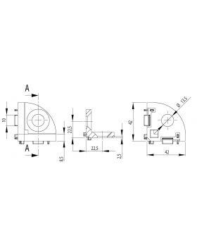 HOEKSTUK 45 (INCL. BEV. SET) - GROEF 10