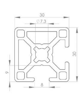 PROFIEL 30x30 2N90