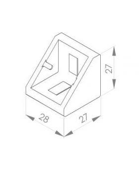 HOEKSTEUN 30x30 (incl. bev. set) N8/N10