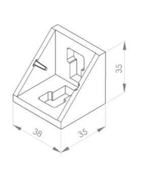HOEKSTEUN 40x40 (incl. bev. set)