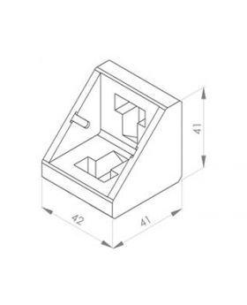 HOEKSTEUN 45x45 (excl. bev. set)