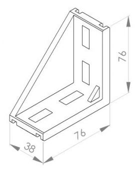 HOEKSTEUN 40x80 (incl. bev. set)