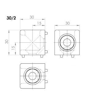 HOEKVERBINDER 30x30/2 - GROEF 8
