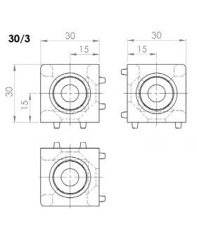 HOEKVERBINDER 30x30/3 - GROEF 8