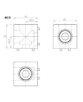 HOEKVERBINDER 45x45/2 - GROEF 10