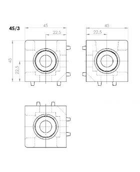 HOEKVERBINDER 45x45/3 - GROEF 10