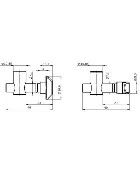 SNELVERBINDER (90°) - GROEF 8/10
