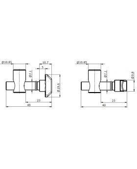 SNELVERBINDER (0°) - GROEF 8/10