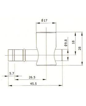SNELSPANVERBINDER (90°) - GROEF 10