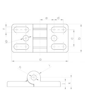 SCHARNIEREN MET SLEUFGAT 40x80 - GROEF 10